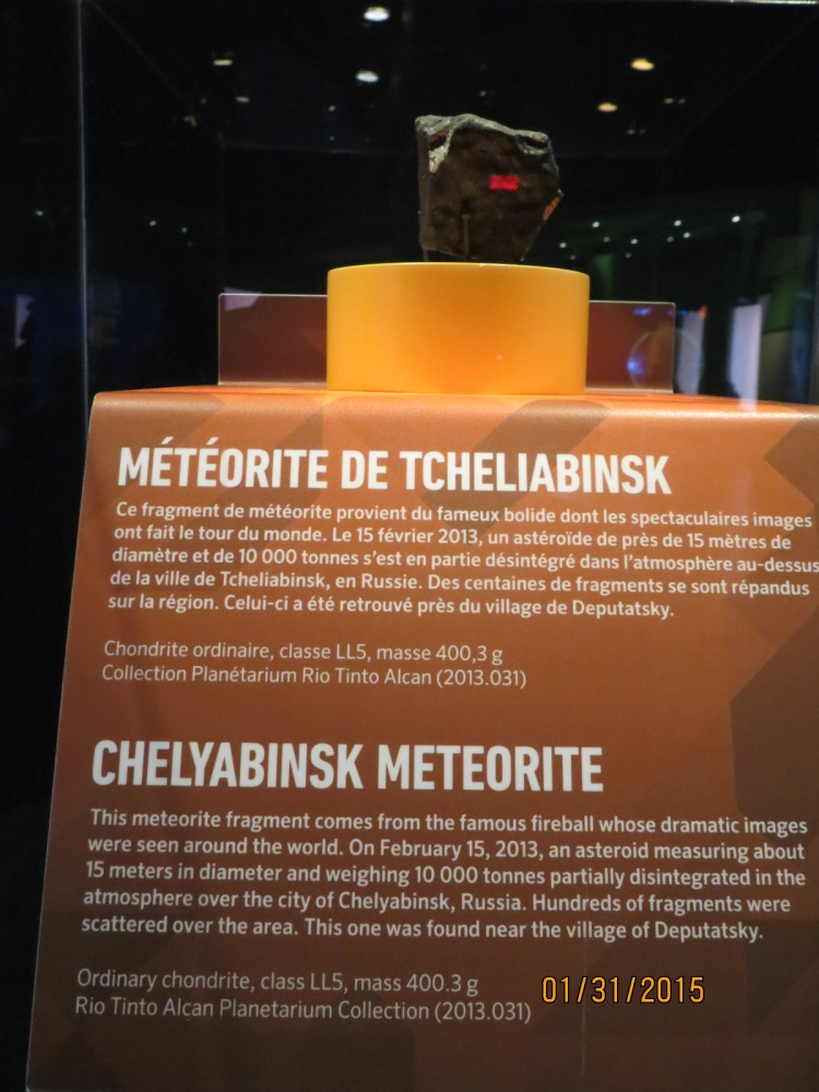 Chelyabinsk Meterorite at the Planetarium in Montreal, Quebec