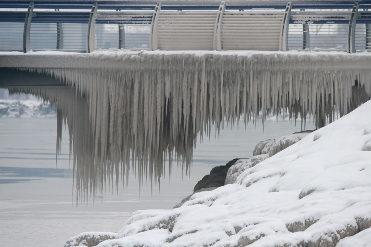 Ice at the Burlington Pier