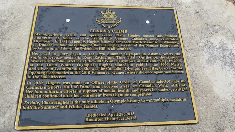 Clara's Climb dedication