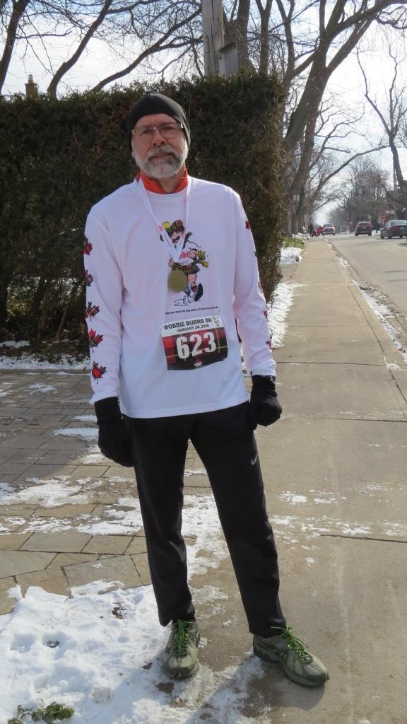 Robbie Burns run participant