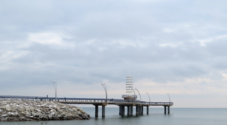 View of Brant Street Pier.