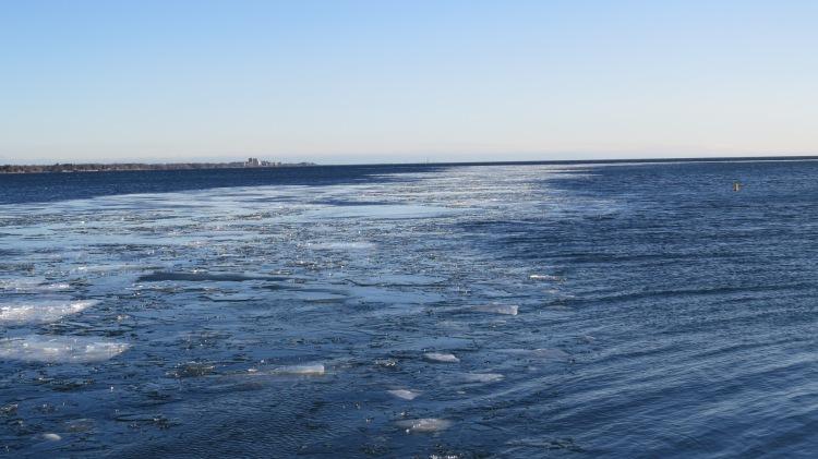 Ice heading east
