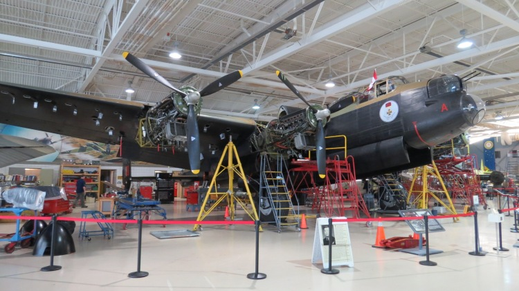 This Avro Lancaster MK X was built in Malton, Ontario. Of the more than 7,300 Lancasters rolled of the production line, only two still fly today.