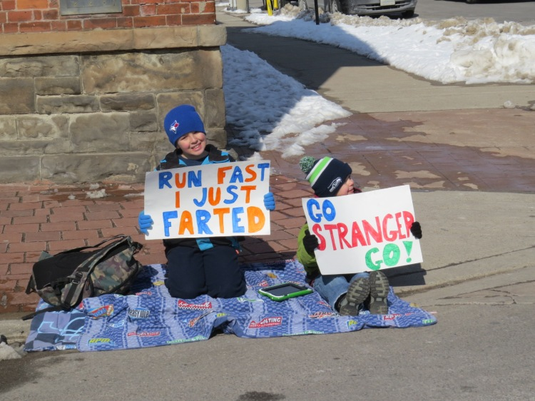 Encouragement at Chilly Half Marathon