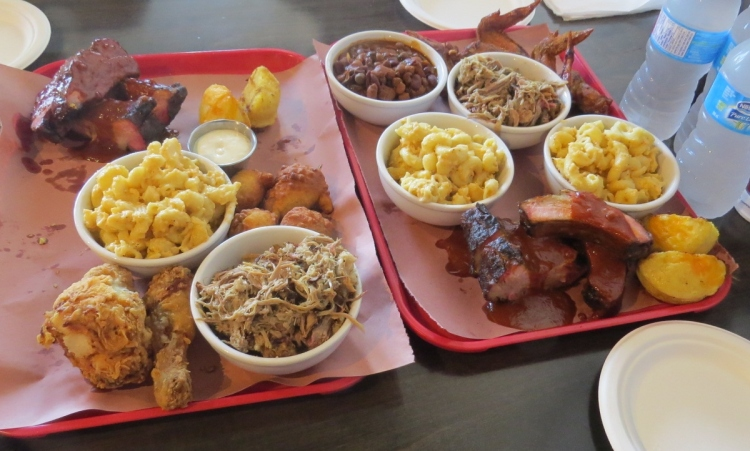 Lunch for four at Southern Smoke Barbeque (we took two doggy bags home)